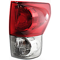 Passenger Side Tail Light, With bulb(s) - Clear & Red Lens