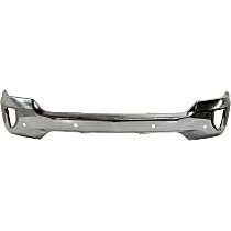 Bumper - Front, Chrome, For Models with Impact Bar Skid Plate and Parking Aid Sensors, without Air Hole