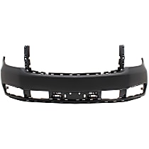 Front Bumper Cover, Primed - w/o Off Road Pkg., w/o Parking Aid Sensor Holes, CAPA CERTIFIED