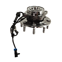 Wheel Hub and Bearing - Front, Driver or Passenger Side, 4WD, For Models with 12,000 lb. GVW