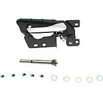 Front or Rear, Passenger Side Interior Door Handle, Black bezel with chrome lever