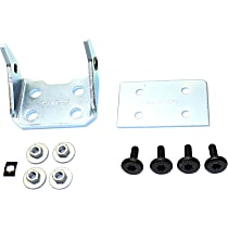 Replacement Door Hinge - RC46390002 - Front, Driver Side, Lower, Chrome, Direct Fit, Sold individually