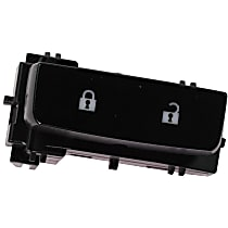 Replacement RC50560005 Door Lock Switch - Black, Direct Fit, Sold individually Front, Passenger Side