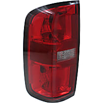 Driver Side Tail Light, With bulb(s) - Red Lens, CAPA CERTIFIED