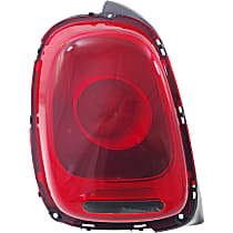 Driver Side Tail Light, With bulb(s) - Red Lens, w/ Halogen Headlights, Convertible 16-17/Hatchback