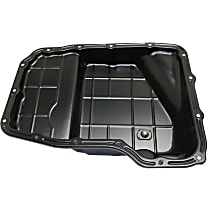 Replacement RD31860002 Transmission Pan - Black, Steel, Direct Fit, Sold individually