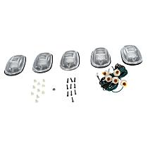 Replacement Cab Roof Light - Clearance Light Kit, Plastic Lens, Halogen, Quad Cab