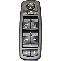 Window Switch - Front, Driver Side, Black, with Power Folding Mirrors