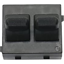 Window Switch - Front, Driver Side, Black, 2-Button