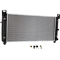 "Item Auto Radiator RDXP13029 - Plastic, Aluminum, 34x17"" core(41"" overall width); w/Auto Trans Cooler and Engine Oil Cooler, Direct Fit"