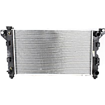 Item Auto Radiator RDXP1850 - Plastic, Aluminum, 26 x 15 in. core, Direct Fit; w/Outlet on Passenger Side