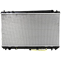 "Item Auto Radiator RDXP2325 - Plastic, Aluminum, 16 x 28 in. core, Direct Fit; Heavy Duty Cooling (1"" thick core)"