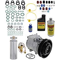 Item Auto A/C Compressor Kit - REPA191104 - Includes New Compressor, w/6-Groove Pulley, 4cyl