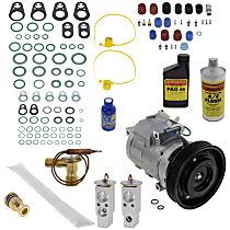 Item Auto A/C Compressor Kit - REPA191107 - Includes New Compressor, w/6-Groove Pulley, w/Rear Air