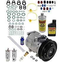 Item Auto A/C Compressor Kit - REPA191110 - Includes New Compressor, w/6-Groove Pulley, w/o Rear Air