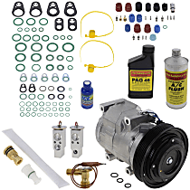 Item Auto A/C Compressor Kit - REPA191111 - Includes New Compressor, w/6-Groove Pulley, w/Rear Air