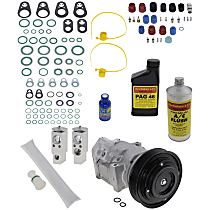 Item Auto A/C Compressor Kit - REPA191113 - Includes New Compressor, w/6-Groove Pulley, w/o Rear Air