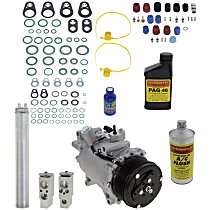 Item Auto A/C Compressor Kit - REPA191114 - Includes New Compressor, w/7-Groove Pulley