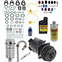 Item Auto A/C Compressor Kit - REPB191118 - Includes New Compressor, w/1-Groove Pulley, A-6 type Compressor