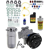 Item Auto A/C Compressor Kit - REPC191137 - Includes New Compressor, w/6-Groove Pulley, OE-style Compressor