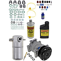 Item Auto A/C Compressor Kit - REPC191188 - Includes New Compressor, w/6-Groove Pulley, w/o Rear Air