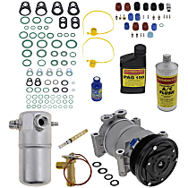 Item Auto A/C Compressor Kit - REPC191189 - Includes New Compressor, w/6-Groove Pulley, w/Rear Air