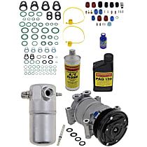 Item Auto A/C Compressor Kit - REPC191190 - Includes New Compressor, w/6-Groove Pulley, w/o Rear Air