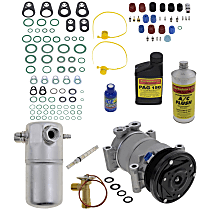 Item Auto A/C Compressor Kit - REPC191191 - Includes New Compressor, w/6-Groove Pulley, w/Rear Air
