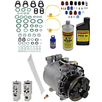 Item Auto A/C Compressor Kit - REPCV191109 - Includes New Compressor, w/6-Groove Pulley, 3.0L, Coupe