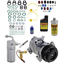 Item Auto A/C Compressor Kit - REPCV191112 - Includes New Compressor, w/4-Groove Pulley, w/Rear Air