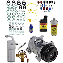 Item Auto A/C Compressor Kit - REPCV191113 - Includes New Compressor, w/4-Groove Pulley, w/Rear Air