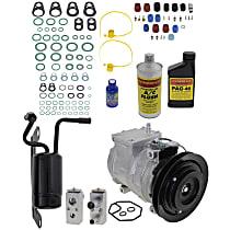 Item Auto A/C Compressor Kit - REPCV191115 - Includes New Compressor, w/1-Groove Pulley, 3.3L/3.5L