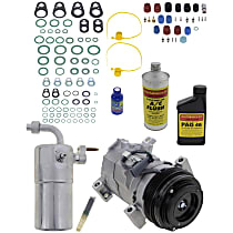 Item Auto A/C Compressor Kit - REPCV191121 - Includes New Compressor, w/4-Groove Pulley, w/o Rear Air