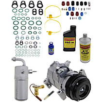 Item Auto A/C Compressor Kit - REPCV191122 - Includes New Compressor, w/4-Groove Pulley, w/Rear Air