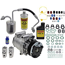 Item Auto A/C Compressor Kit - REPCV191134 - Includes New Compressor, w/6-Groove Pulley, 3.4L, 2-Bolt Expansion Valve type