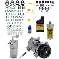 Item Auto A/C Compressor Kit - REPCV191139 - Includes New Compressor, w/4-Groove Pulley, w/o Rear Air