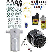 Item Auto A/C Compressor Kit - REPCV191149 - Includes New Compressor, w/6-Groove Pulley, w/o Rear Air, OE-style Compressor