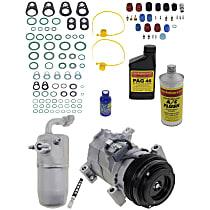 Item Auto A/C Compressor Kit - REPCV191155 - Includes New Compressor, w/4-Groove Pulley, w/o Rear Air