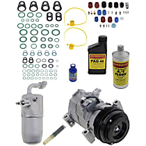 Item Auto A/C Compressor Kit - REPCV191156 - Includes New Compressor, w/4-Groove Pulley, w/Rear Air