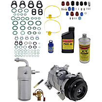 Item Auto A/C Compressor Kit - REPCV191157 - Includes New Compressor, w/4-Groove Pulley, w/Rear Air