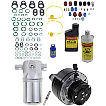 Item Auto A/C Compressor Kit - REPCV191160 - Includes New Compressor, w/6-Groove Pulley, w/o Rear Air, Scroll-type Compressor