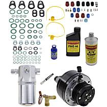 Item Auto A/C Compressor Kit - REPCV191161 - Includes New Compressor, w/6-Groove Pulley, Gas, w/Rear Air, Scroll-type Compressor