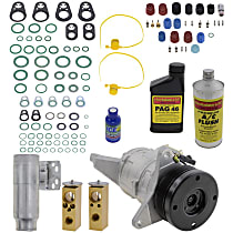 Item Auto A/C Compressor Kit - REPD191112 - Includes New Compressor, w/6-Groove Pulley, 6cyl, w/o Rear Air