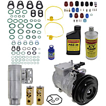 Item Auto A/C Compressor Kit - REPD191114 - Includes New Compressor, w/1-Groove Pulley, 3.0L, w/o Rear Air