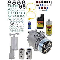 Item Auto A/C Compressor Kit - REPD191115 - Includes New Compressor, w/6-Groove Pulley, Sedan & Convertible