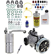 Item Auto A/C Compressor Kit - REPD191117 - Includes New Compressor, w/7-Groove Pulley, Gas, Orifice Tube-in-Condenser type