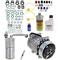 Item Auto A/C Compressor Kit - REPD191118 - Includes New Compressor, w/8-Groove Pulley, 5.9L, Diesel, Orifice Tube-in-Condenser type