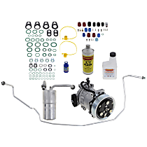 Item Auto A/C Compressor Kit - REPD191119 - Includes New Compressor, w/7-Groove Pulley, Orifice Tube-in-Line type