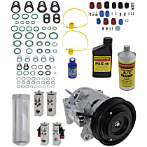 Item Auto A/C Compressor Kit - REPD191121 - Includes New Compressor, w/6-Groove Pulley, 3.3L/3.8L, w/Rear Air