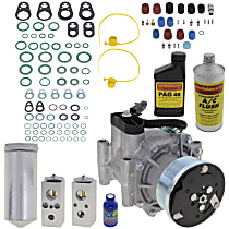 Item Auto A/C Compressor Kit - REPD191122 - Includes New Compressor, w/7-Groove Pulley, w/o Rear Air